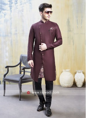 Attractive Maroon Color Indo Western