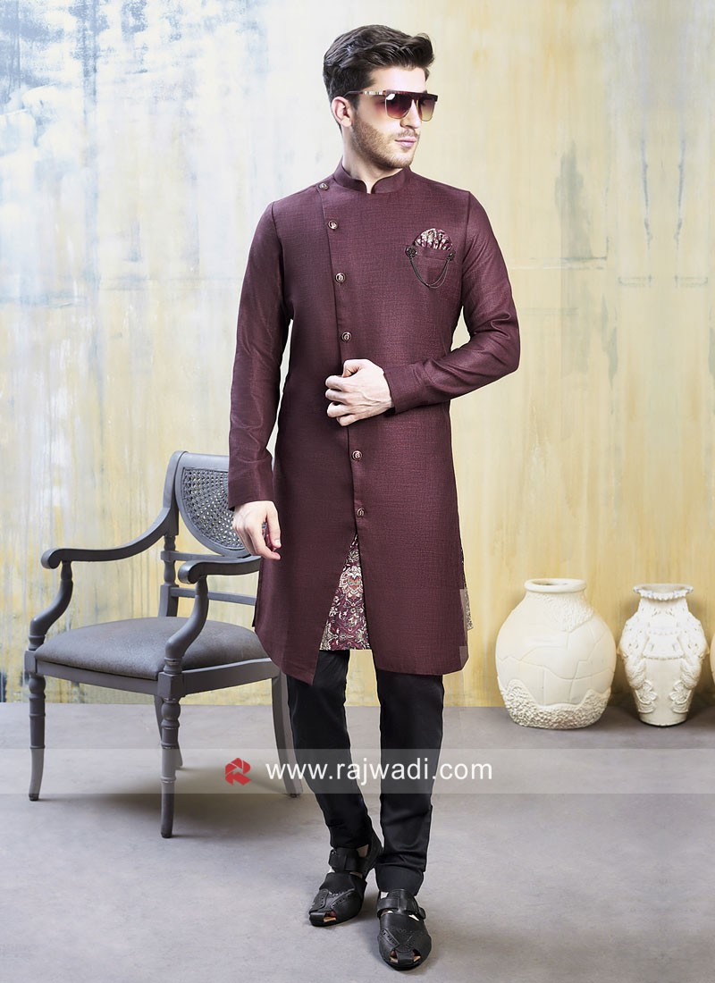 Attractive Maroon Color Indo Western