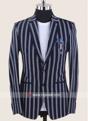 Attractive Hosiery Fabric Blue Blazer