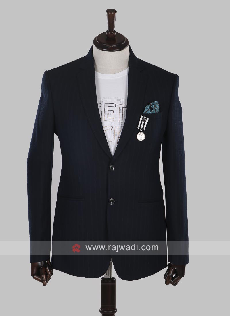 attractive imported fabric navy blue blazer