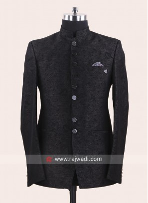 Attractive Jacquard Fabric Jodhpuri Suit