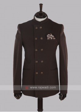 attractive jute silk brown jodhpuri