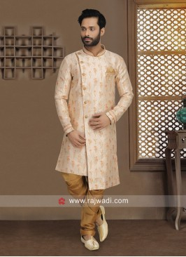 Attractive Light Peach Indo Western