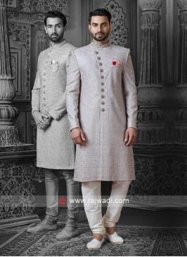 Attractive Gray Sherwani