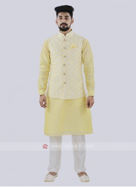 Attractive Light Yellow Color Koti Set
