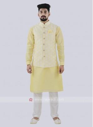 Attractive Light Yellow Color Koti Set