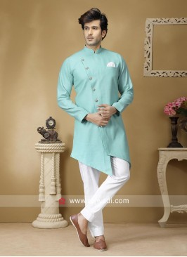 Attractive Linen Fabic Pathani Suit