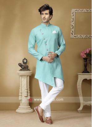 Attractive Linen Fabic Pathani Suit