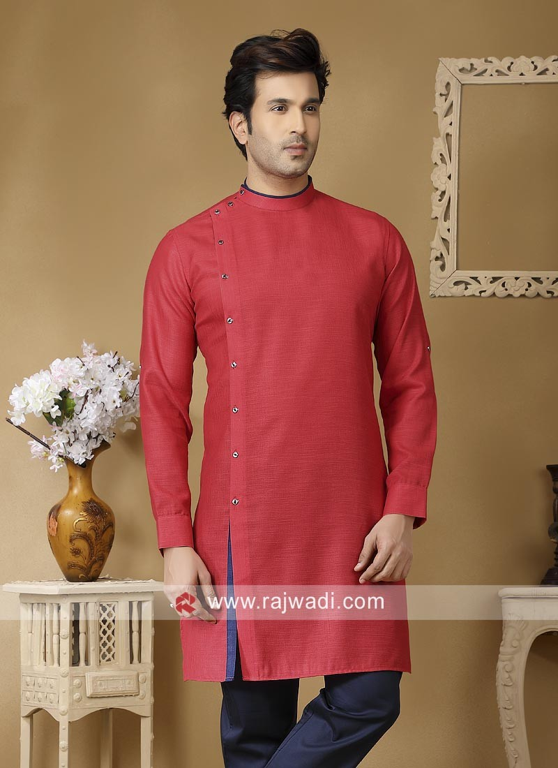 Attractive Linen Fabric Kurta