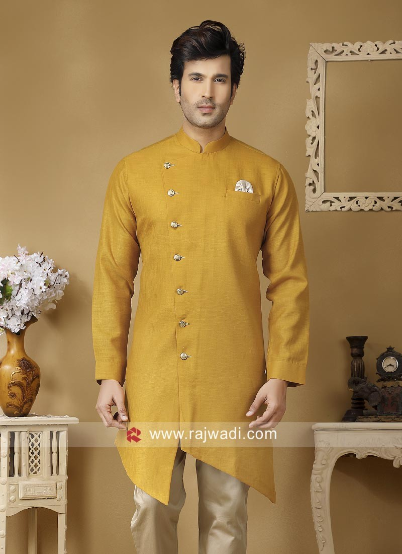Attractive Linen Fabric Kurta