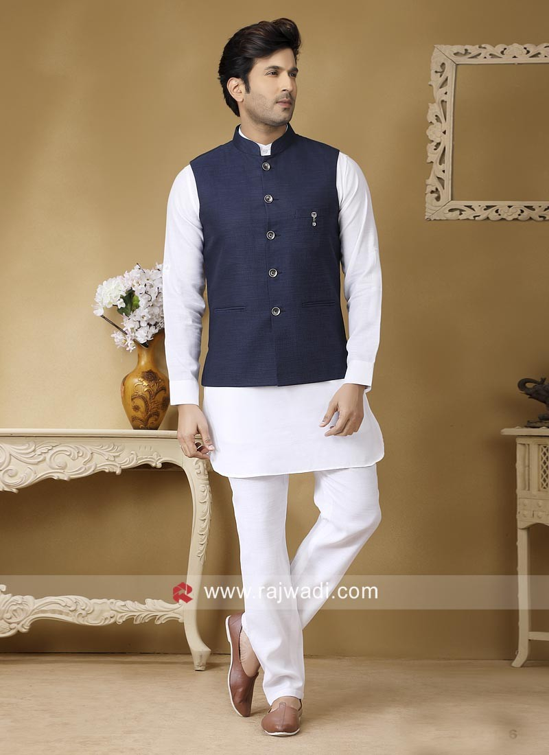 Attractive Linen fabric Nehru Jacket