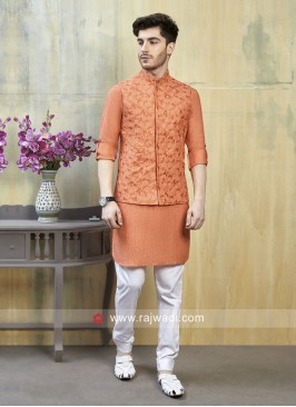 Attractive Linen Cotton fabric Nehru Jacket