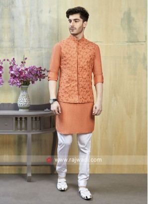 Attractive Linen Cotton fabric Nehru Jacket