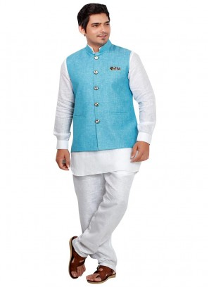 Attractive Linen fabric Nehru Jacket