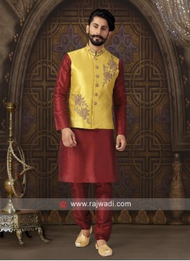 Attractive Silk Fabric Nehru Jacket