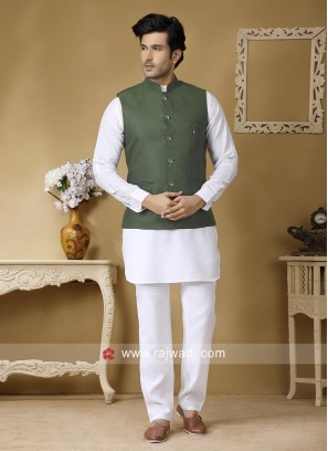 Attractive Linen Nehru Jacket