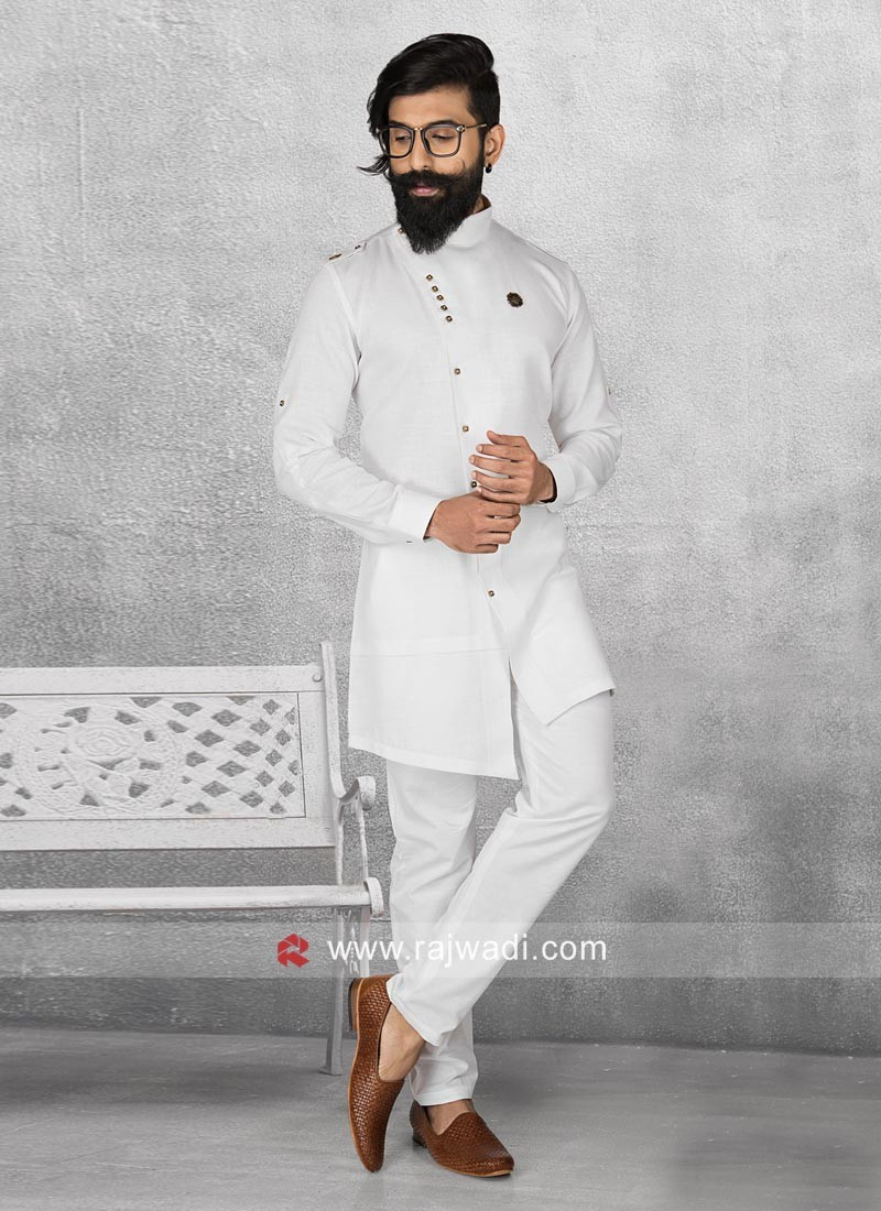 Attractive Long Sleeve Pathani Suit