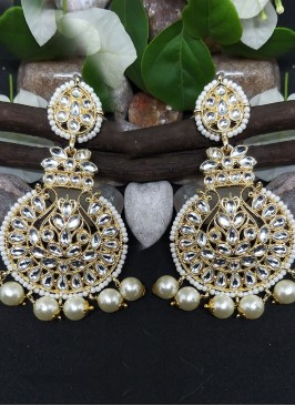 Attractive Look Stonework Chandbali
