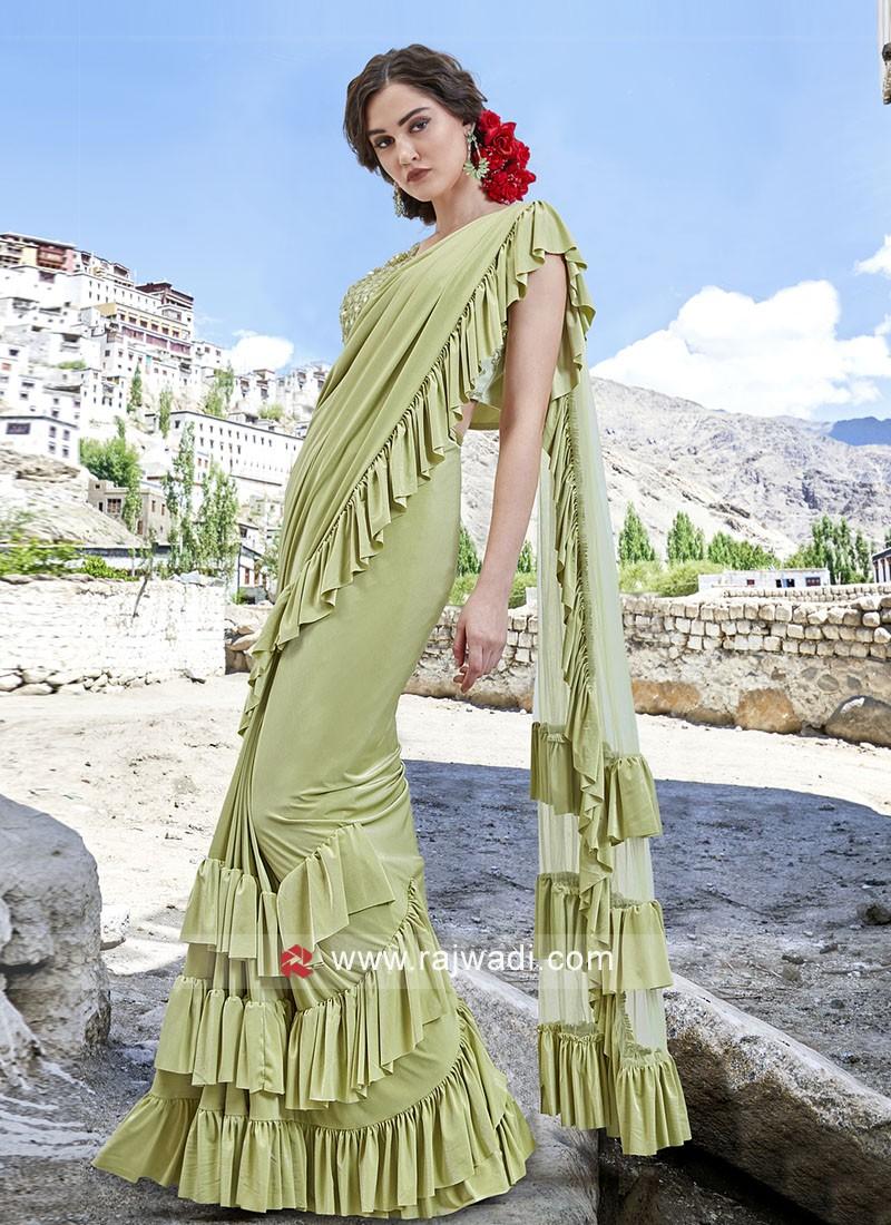 Attractive Lycra Party wear Saree