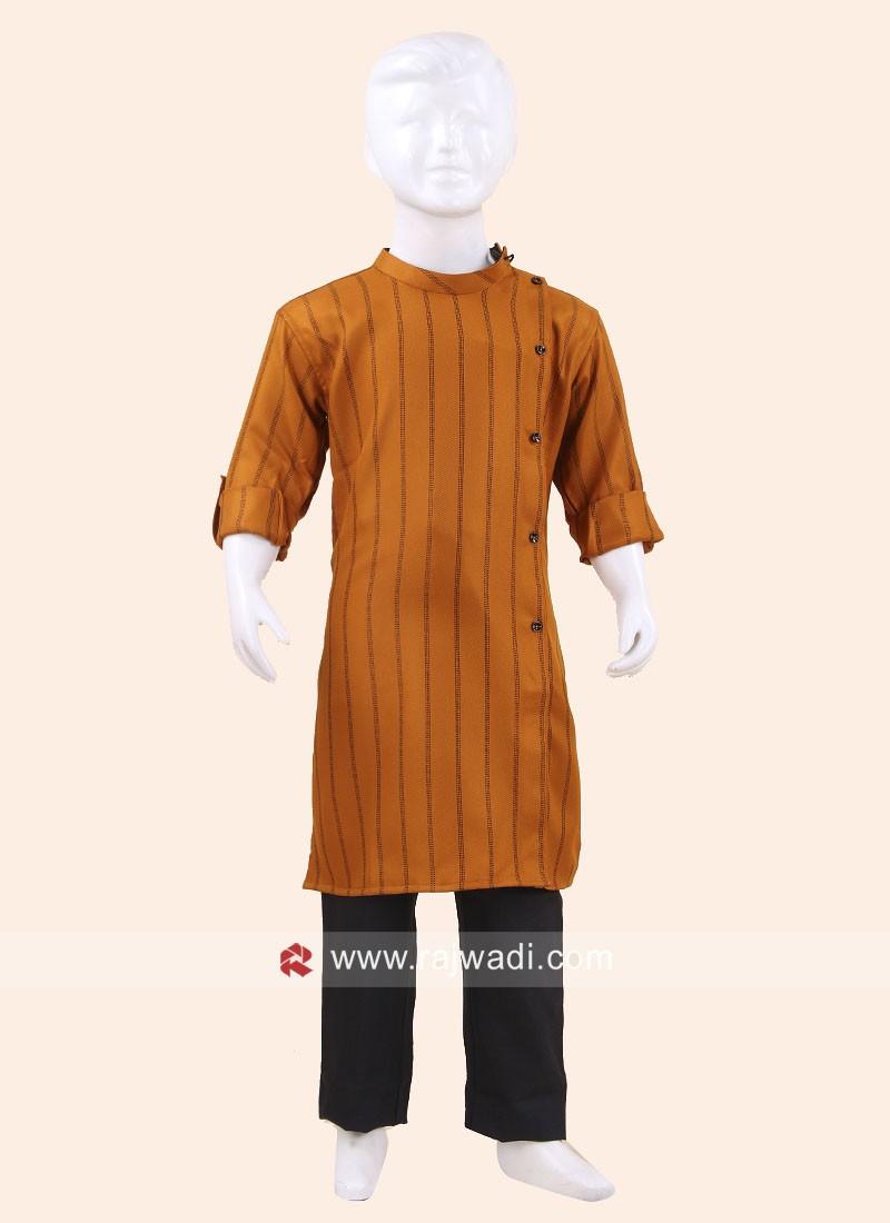 Attractive Mango Pathani Suit