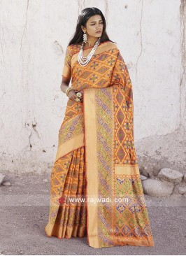 Attractive Mango Silk Saree