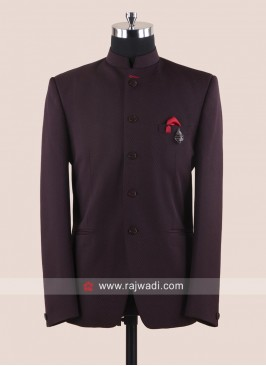 Attractive Maroon Color Jodhpuri Set