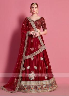 Attractive Maroon Color Lehenga Choli