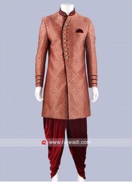 Attractive Maroon Indo Western Sherwani