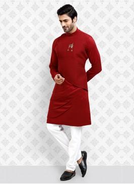 Attractive Maroon Kurta Pajama