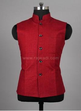 Attractive Maroon Mens Nehru Jacket
