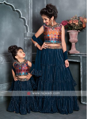 Attractive Blue Lehenga Choli