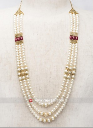 Attractive Off White Wedding Pearl Mala