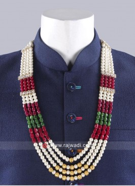 Attractive Multi Color Wedding Pearl Mala
