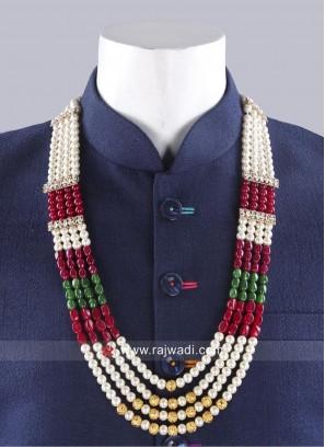 Attractive Multi Color Wedding Pearl Mala