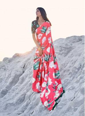 Attractive Multi Colour Abstract Print Casual Saree