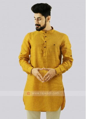 Attractive Mustard Yellow Kurta