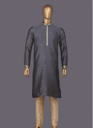 Attractive Navy Blue Color Kurta