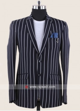 Attractive Navy Color Blazer For Party