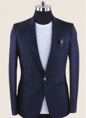 Attractive Navy Color Blazer For Wedding