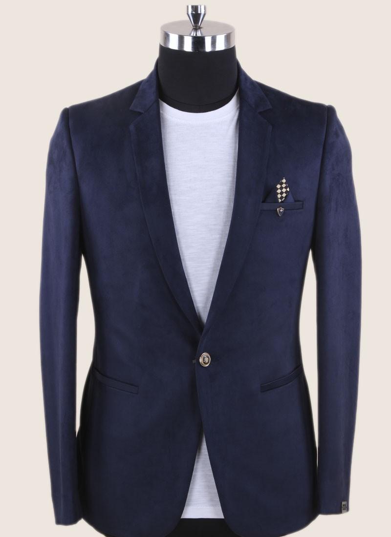 Attractive Navy Color Blazer For Wedding