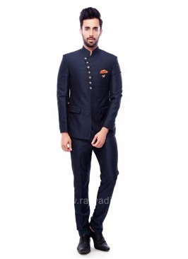 Attractive navy Color Jodhpuri Suit