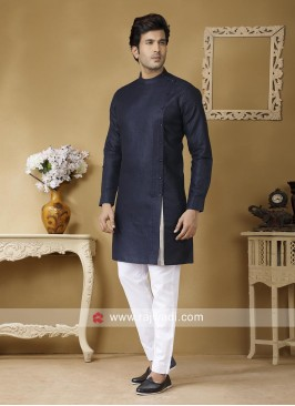 Attractive Navy Color Kurta Set