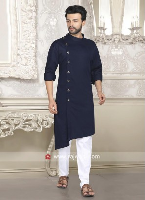 Attractive Navy Color Pathani Set
