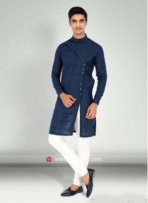 Attractive Navy Kurta Pajama