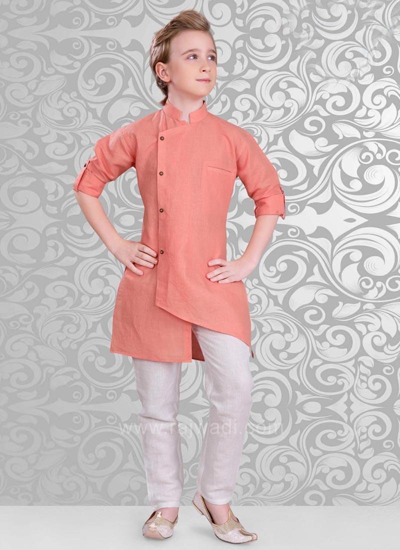 Attractive Neon Coral Kurta Pajama