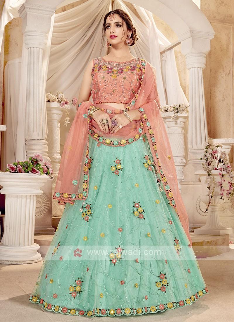 Attractive Net Lehenga Choli