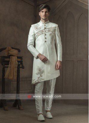 Attractive Off White Indo Western
