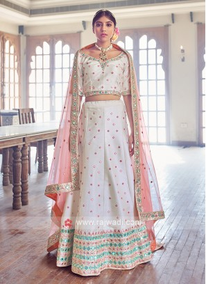 Attractive Off White Lehenga Choli
