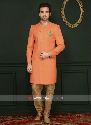 Attractive Orange Color Indo Western