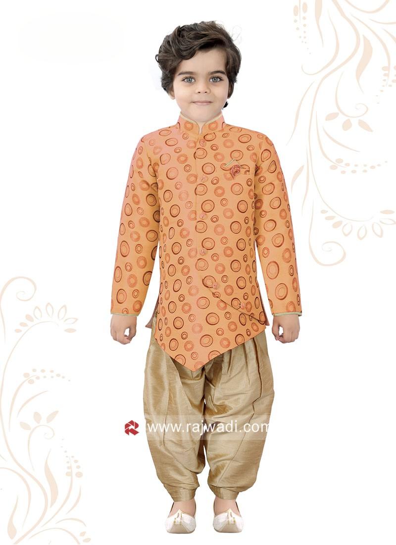 Attractive Orange Indo Western For boys